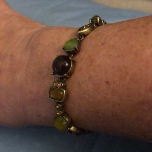 Beautiful  Bracelet With Different Colour Stones
